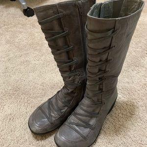 Miz Mooz Otis Grey Half Calf Boots EU 40 9.5/10